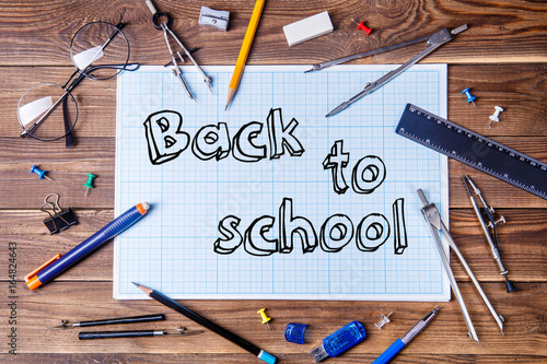 Graph Paper With Text Back To School And Student Material On