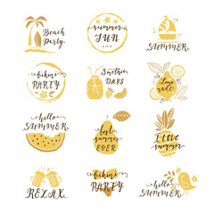 Summer labels set