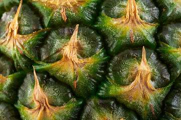 Fruit pineapple texture. Close-up view.