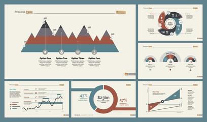 Six Analytics Charts Slide Templates Set