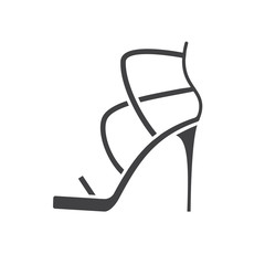 High heel shoe glyph icon
