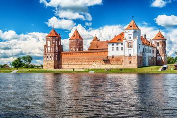 Belarus: Mir castle in the summer