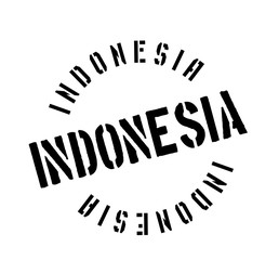Indonesia rubber stamp. Grunge design with dust scratches. Effects can be easily removed for a clean, crisp look. Color is easily changed.