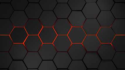 Grey And Orange >> Grey And Orange Squares Modern Background 3d Render Illustration