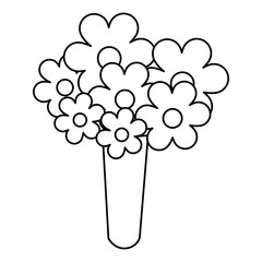 cute bouquet of flowers vector illustration design