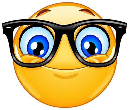 Emoticon with eyeglasses