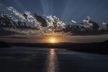 Danube at sunset