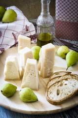 Parmesan Cheese and Pears