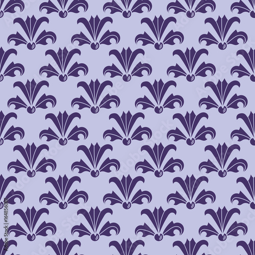 Art Nouveau Flowers Seamless Floral Pattern Inspired By Vintage Style