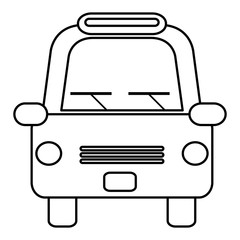 taxi front service icon vector illustration design