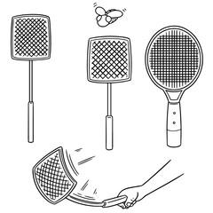 vector set of flyswatters