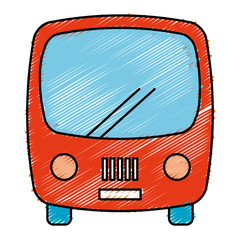 bus vehicle isolated icon vector illustration design