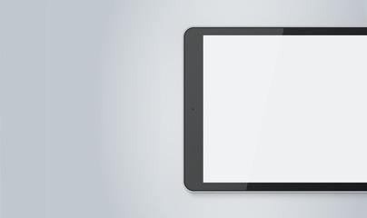 Tablet Mock-Up Banner Gray