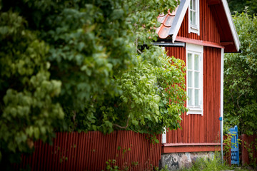 Traditional house in Sweden, Europe