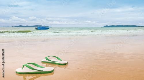 8c7e72f63 Thai style foam sandals on the beach