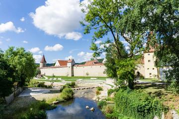 Stadtmauer Stadtbefestigung Mauer Greding bayern mittelfranken