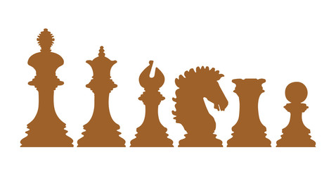 Chess icon Vector Illustration on the white background.