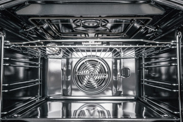 Inside of electric stove oven
