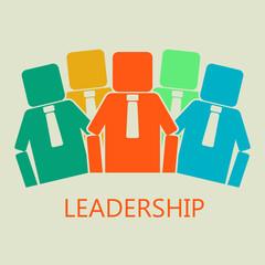 Team concept. Leadership concept. Vector illustration.