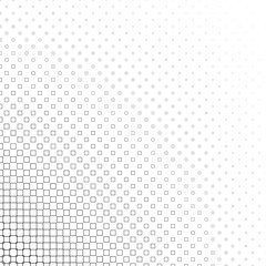 Monochrome square pattern - geometrical vector background graphic design