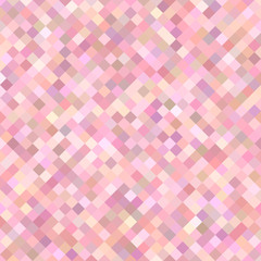 Colored abstract square pattern background - vector graphic from diagonal squares in pink tones