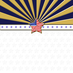 American Flag designed Stars, 5 pointed stars with the the American Blue, Red and white, Stars and stripes, isolated against the white background. Labor Day, Independence Day etc.