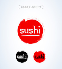 Sushi hand drawn logo