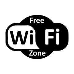 Wifi logo zone – stock vector