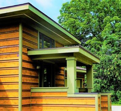 House porch - Prairie Style - Frank Lloyd Wright Inspired