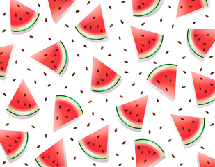 Watermelon. Watermelon fresh slices on white background