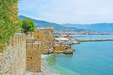 Walk along Alanya coast
