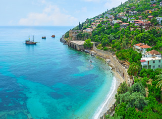 The coast of Alanya peninsula