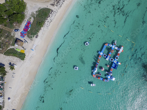 Aerial view of Anguilla Beaches