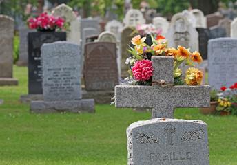 Fotobehang Begraafplaats cimetière