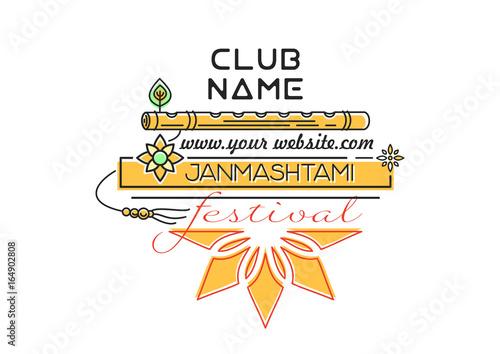 Krishna janmashtami festival invitation to a party annual hindu krishna janmashtami festival invitation to a party annual hindu festival celebration of the stopboris Gallery