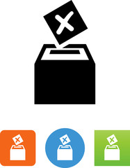Ballot Box Icon - Illustration