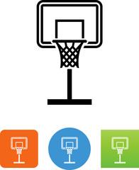 Basketball Backboard Icon - Illustration