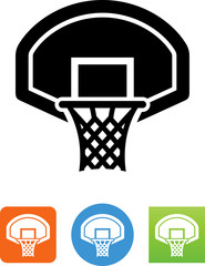 Basketball Goal Icon - Illustration