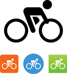 Bicycle Racer Icon - Illustration