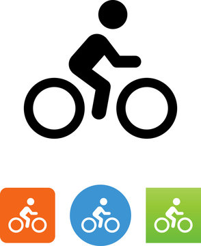 Bicycle Rider Icon - Illustration