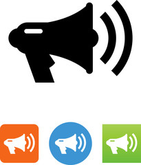 Bullhorn Megaphone Icon - Illustration