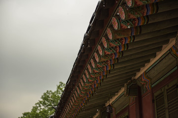 korean traditional roof in gyeongbokgung palace