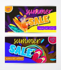 summer sale template banner
