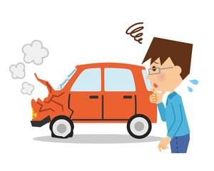 自動車事故 男性