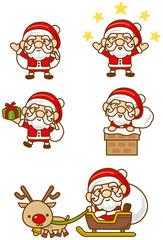 サンタクロースのイメージイラストセット