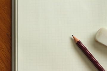 ノートと鉛筆と消しゴム