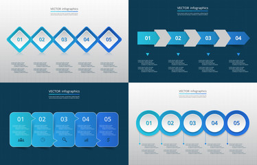 Vector template for infographics.