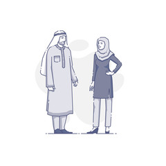 Arabian couplestanding together