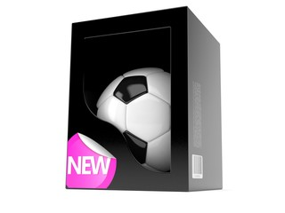 Soccer ball inside box