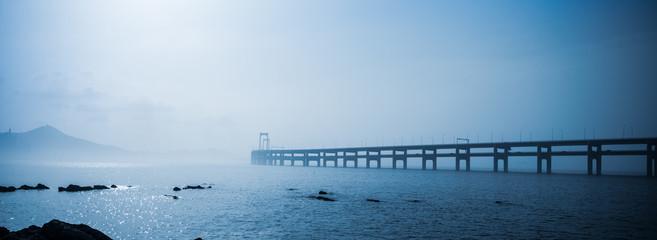Canvas Prints Bridge dalian bay bridge panorama